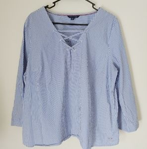 Tommy Hilfiger bell sleeve blouse